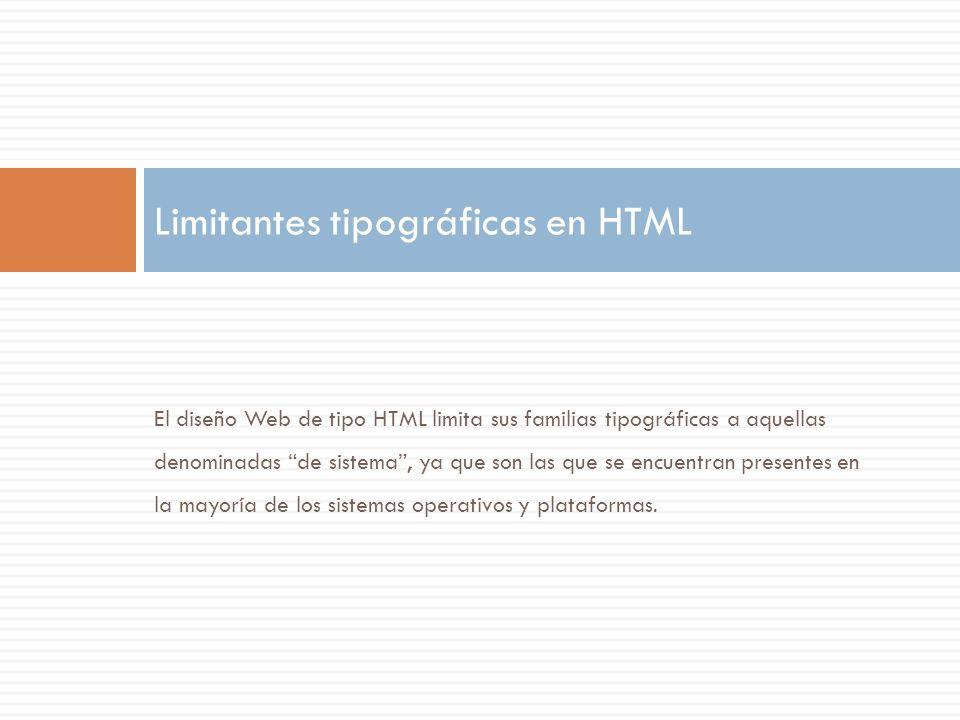 Limitantes tipográficas en HTML