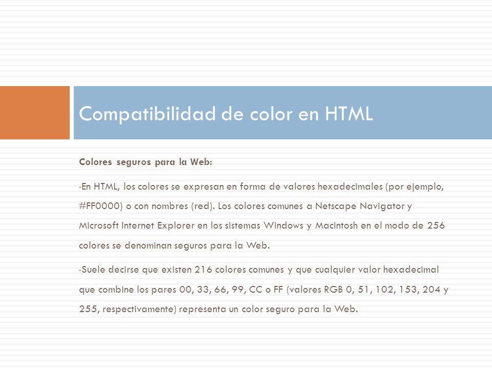 Compatibilidad de color en HTML