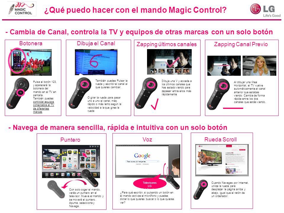 ¿Qué puedo hacer con el mando Magic Control