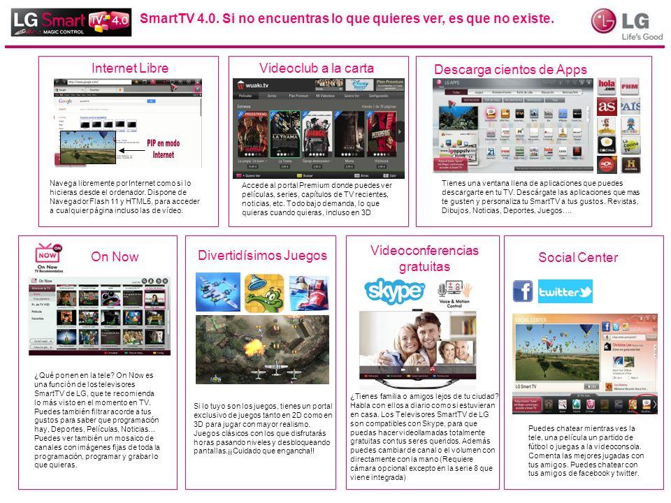 SmartTV 4.0. Si no encuentras lo que quieres ver, es que no existe.