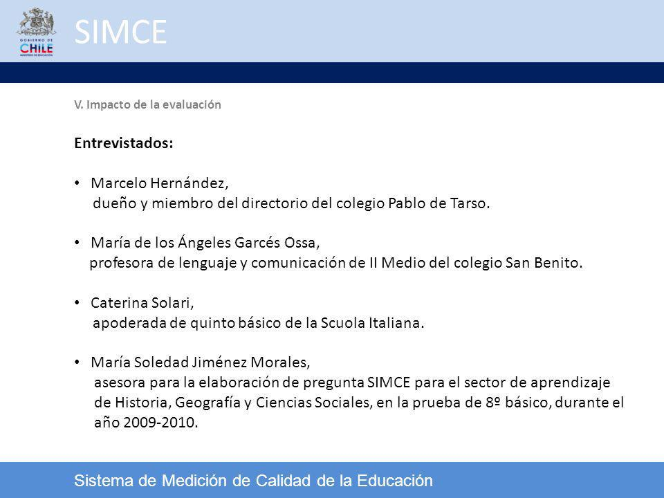 SIMCE Entrevistados: Marcelo Hernández,