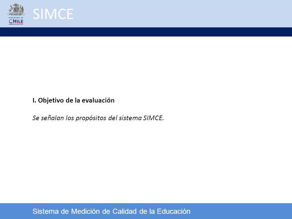SIMCE I. Objetivo de la evaluación