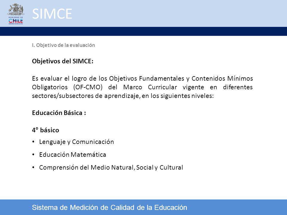 SIMCE Objetivos del SIMCE: