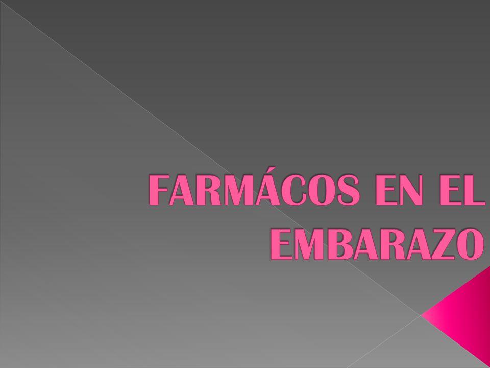 FARMÁCOS EN EL EMBARAZO