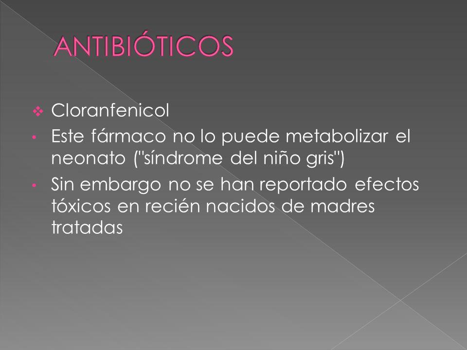 ANTIBIÓTICOS Cloranfenicol