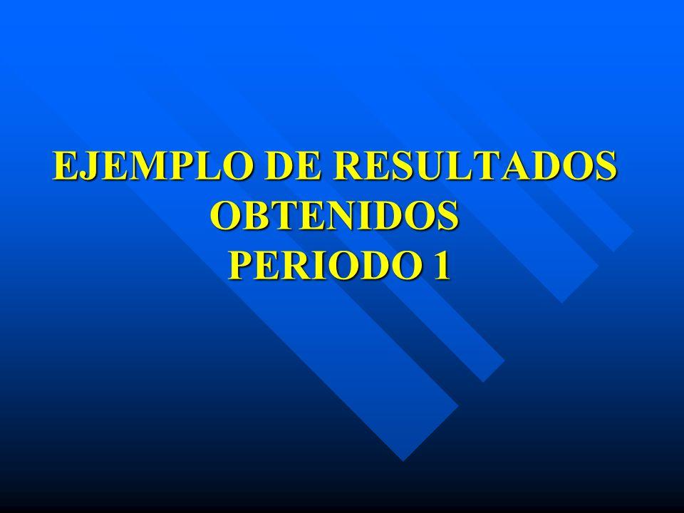 EJEMPLO DE RESULTADOS OBTENIDOS PERIODO 1