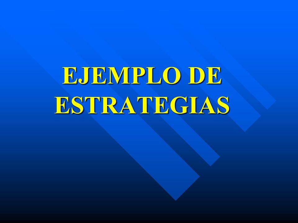 EJEMPLO DE ESTRATEGIAS