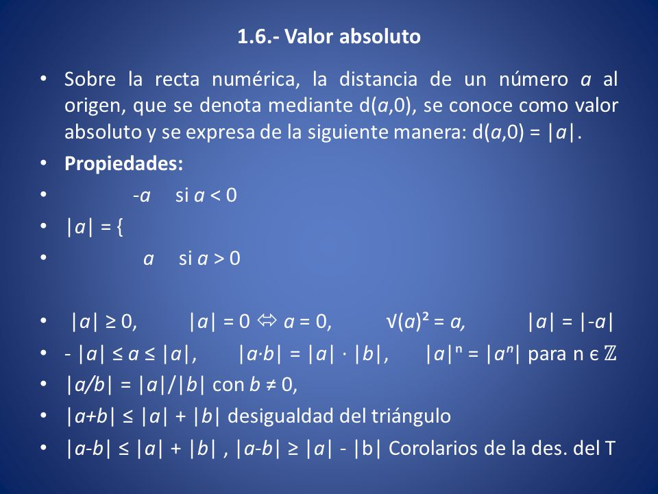 1.6.- Valor absoluto