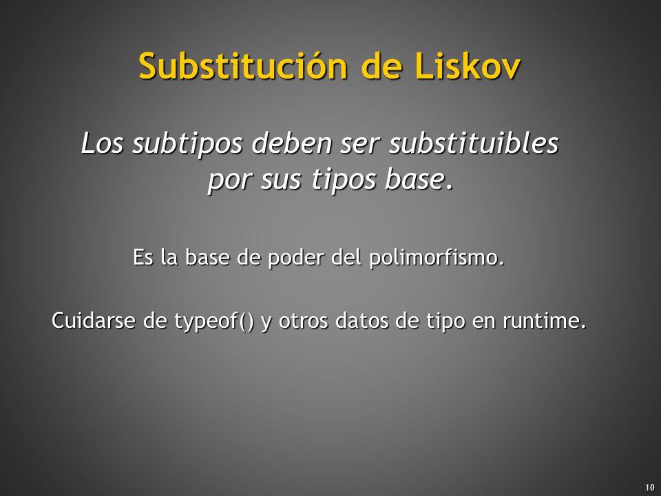 Substitución de Liskov
