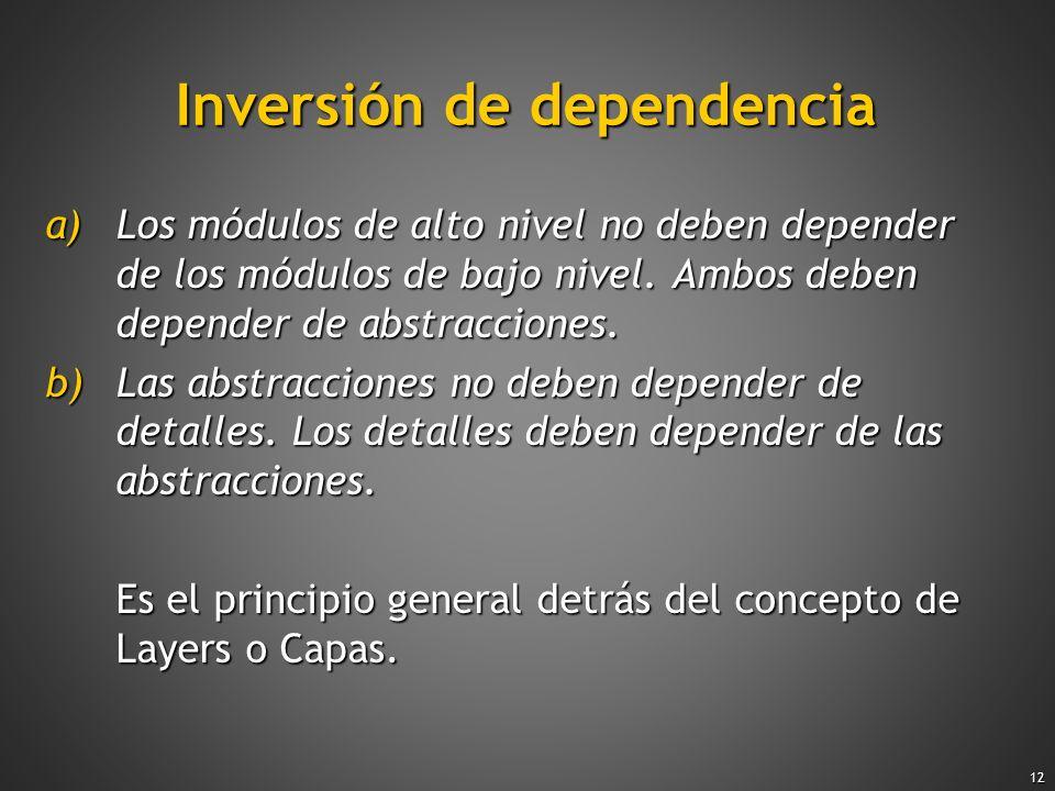 Inversión de dependencia