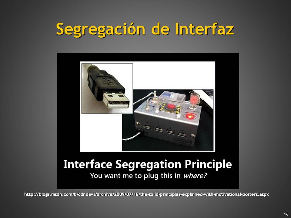 Segregación de Interfaz