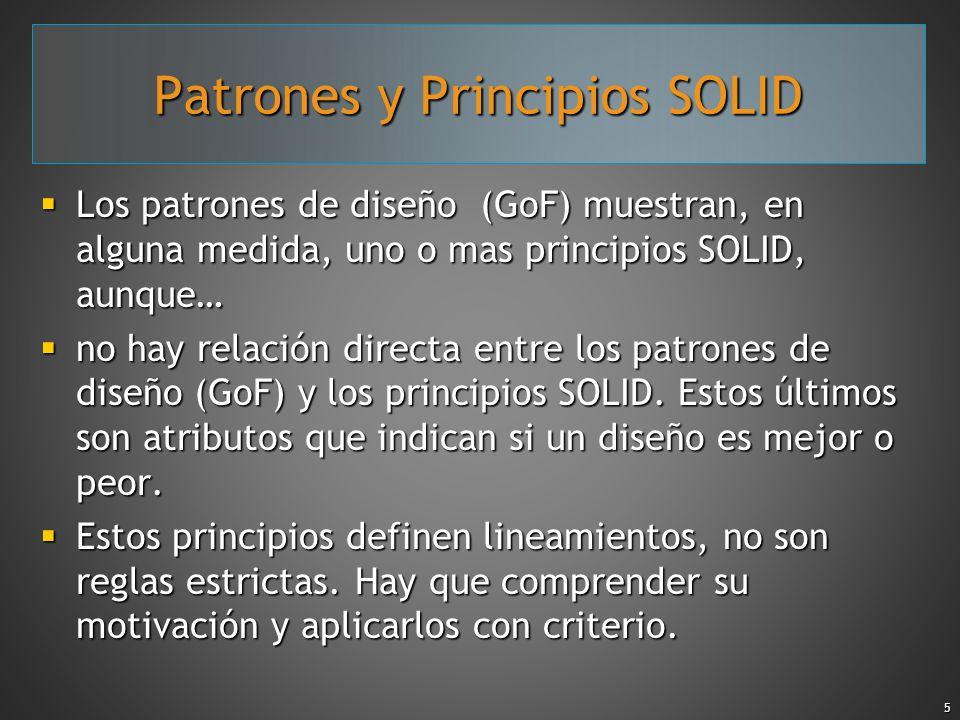 Patrones y Principios SOLID