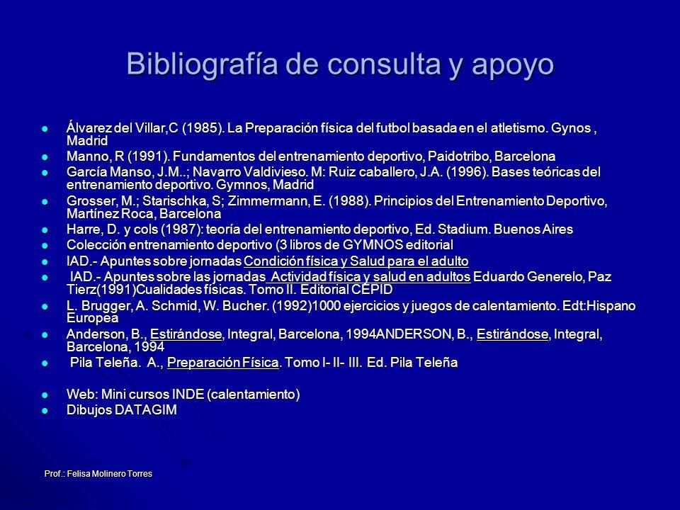 Bibliografía de consulta y apoyo