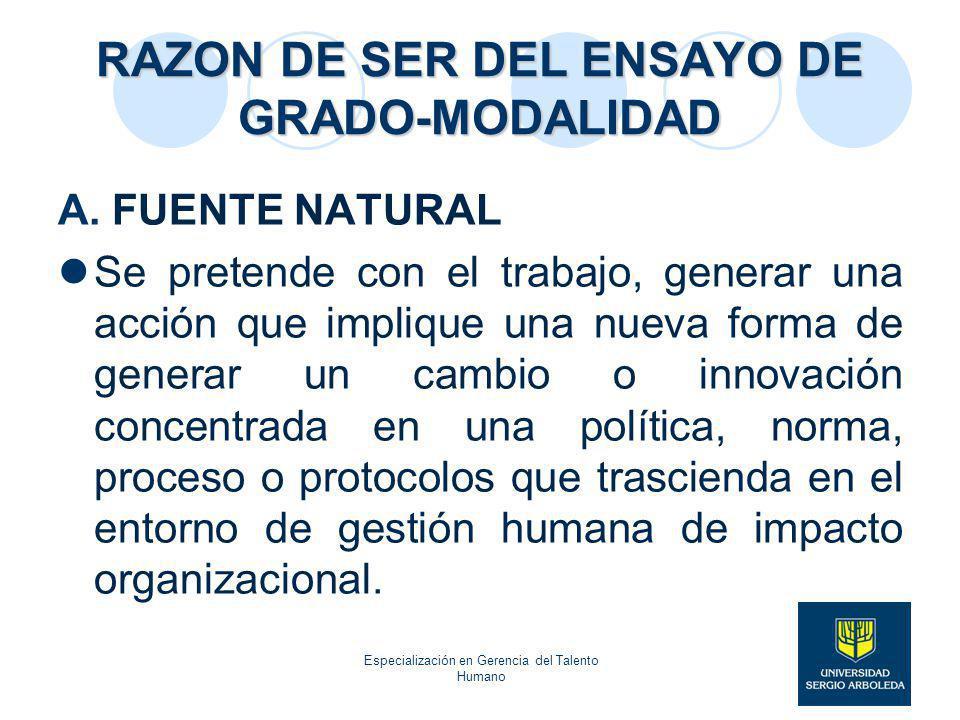 Especialización en Gerencia del Talento Humano - ppt descargar
