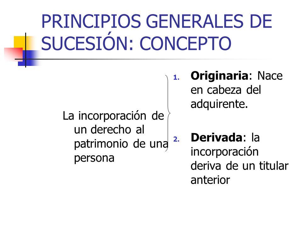 PRINCIPIOS GENERALES DE SUCESIÓN: CONCEPTO
