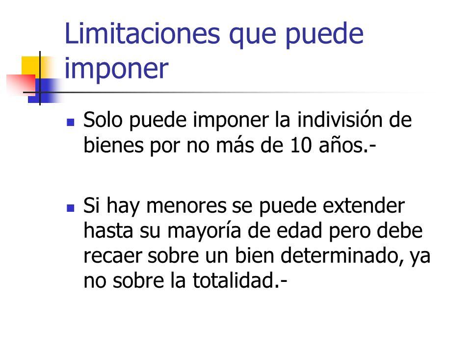 Limitaciones que puede imponer