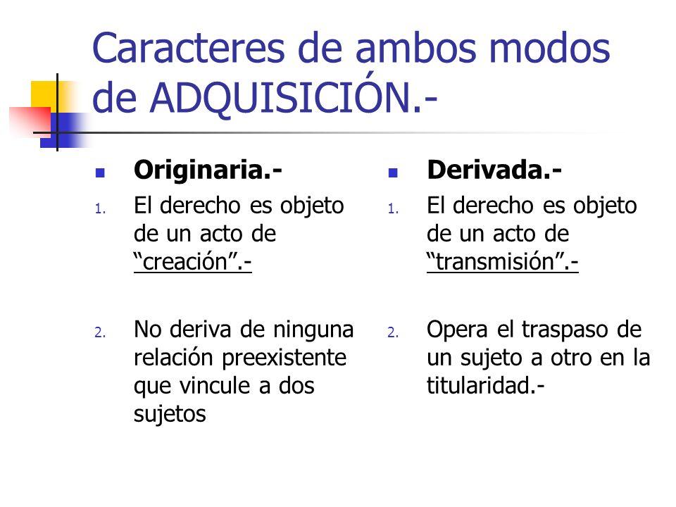 Caracteres de ambos modos de ADQUISICIÓN.-