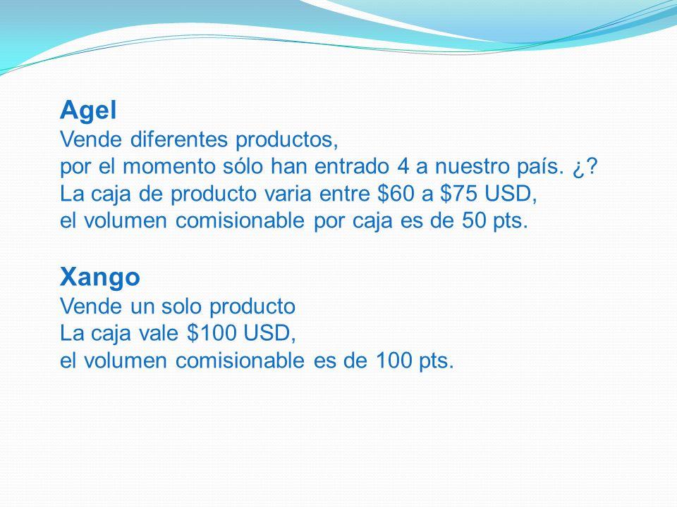 Agel Xango Vende diferentes productos,