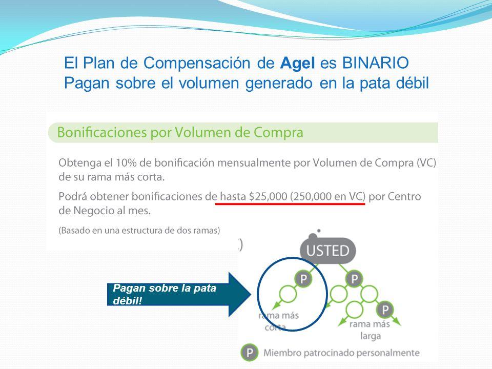 El Plan de Compensación de Agel es BINARIO