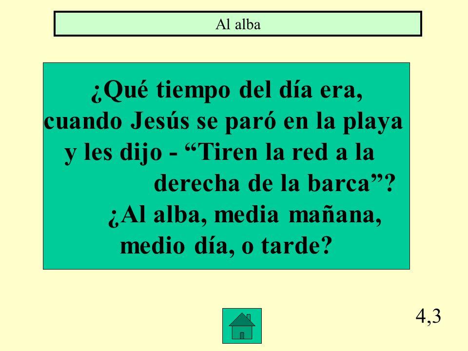 cuando Jesús se paró en la playa y les dijo - Tiren la red a la