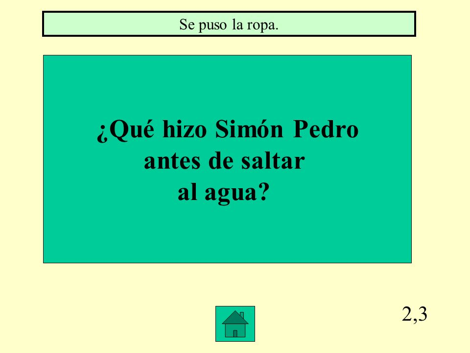 ¿Qué hizo Simón Pedro antes de saltar al agua