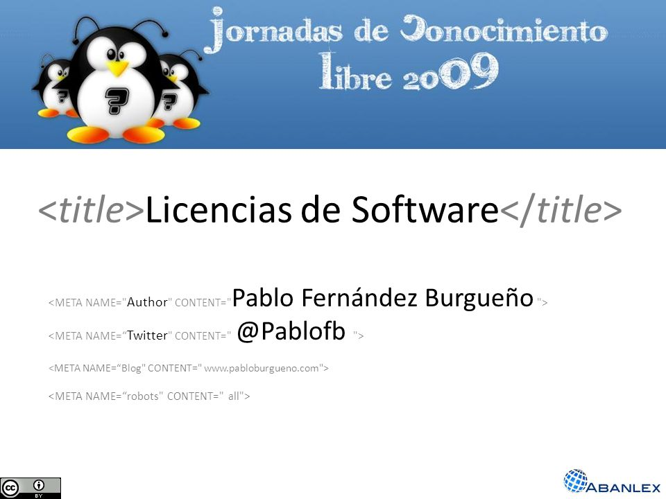 <title>Licencias de Software</title>