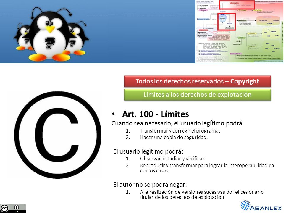 Art. 100 - Límites Todos los derechos reservados – Copyright