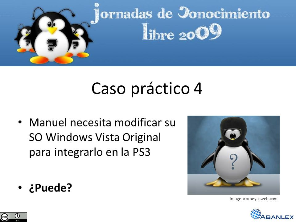 Caso práctico 4 Manuel necesita modificar su SO Windows Vista Original para integrarlo en la PS3. ¿Puede