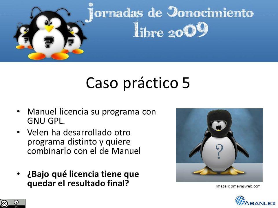 Caso práctico 5 Manuel licencia su programa con GNU GPL.