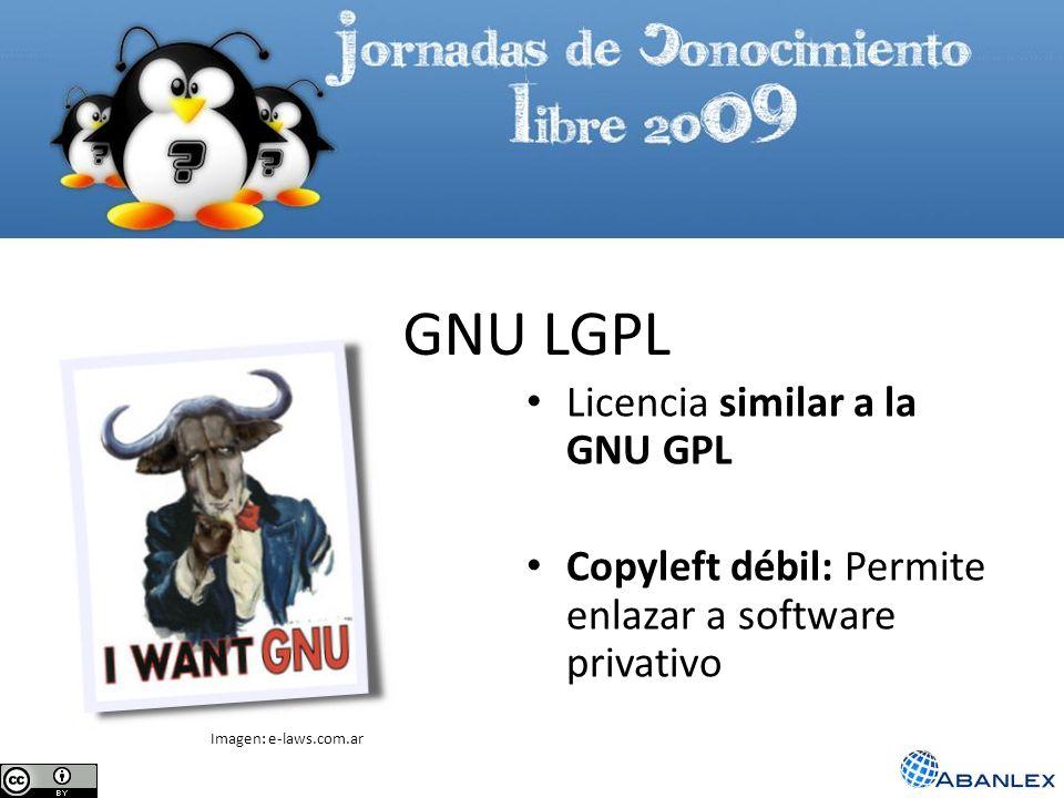 GNU LGPL Licencia similar a la GNU GPL