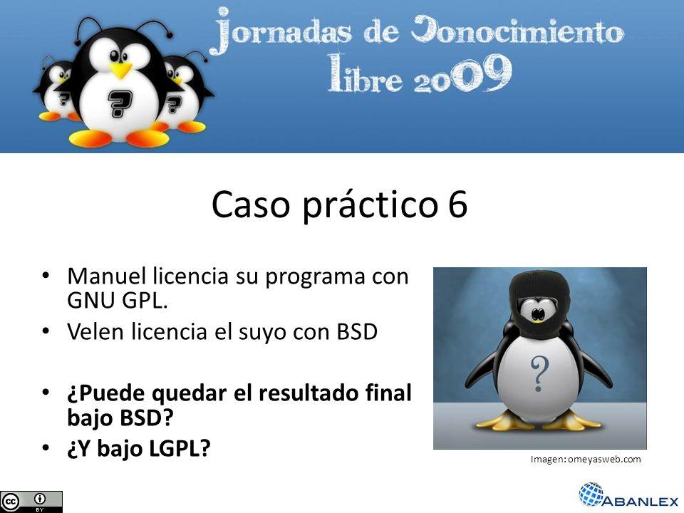 Caso práctico 6 Manuel licencia su programa con GNU GPL.