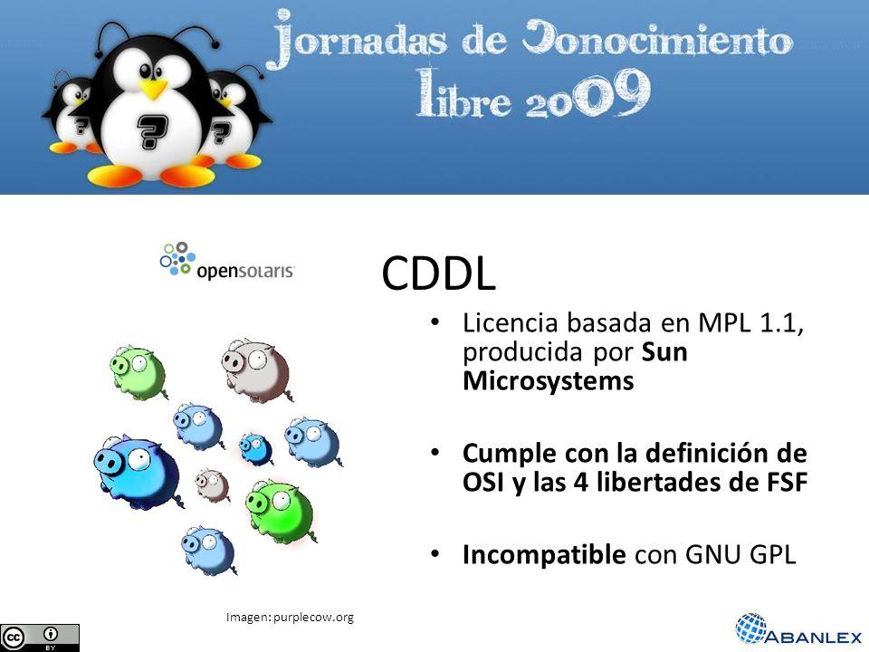CDDL Licencia basada en MPL 1.1, producida por Sun Microsystems