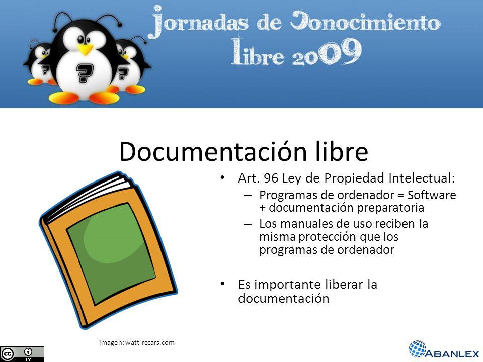 Documentación libre Art. 96 Ley de Propiedad Intelectual: