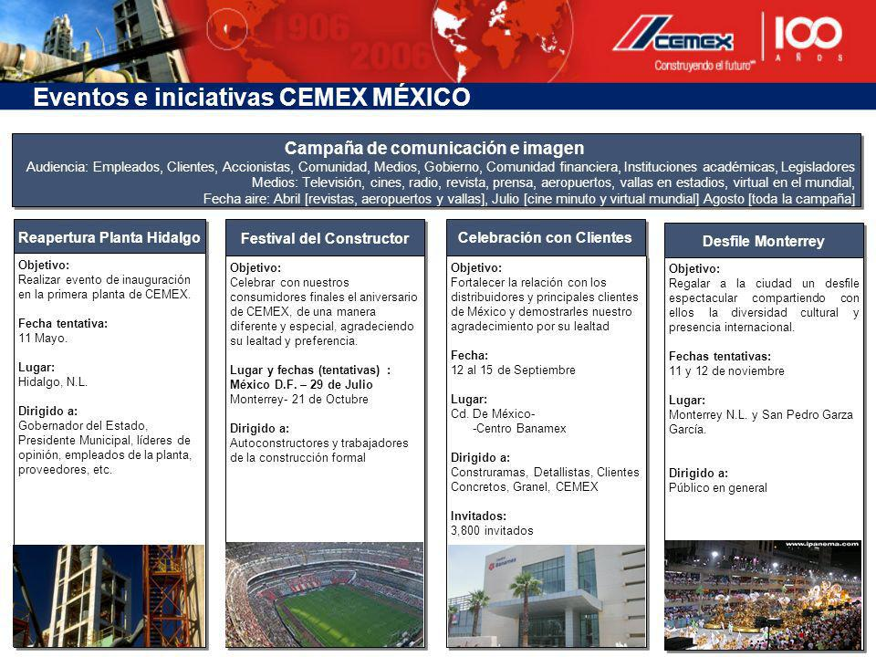Eventos e iniciativas CEMEX MÉXICO