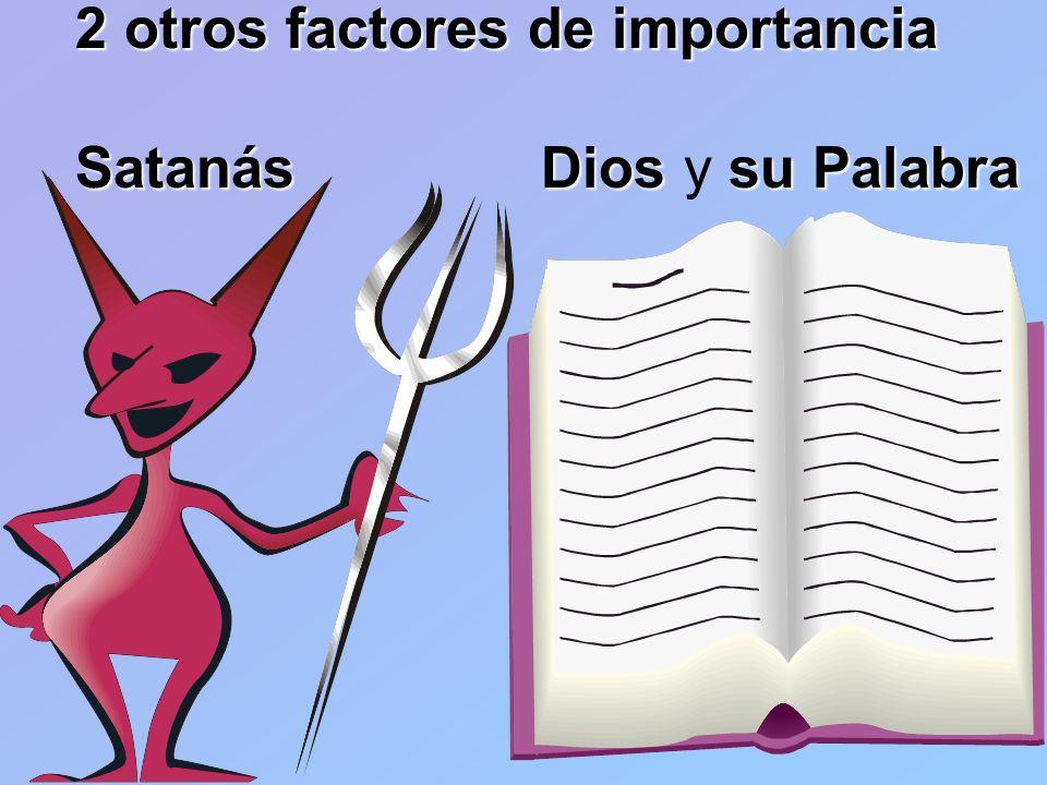 2 otros factores de importancia Satanás Dios y su Palabra