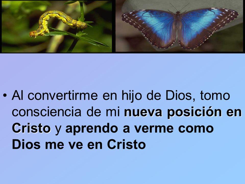 Al convertirme en hijo de Dios, tomo consciencia de mi nueva posición en Cristo y aprendo a verme como Dios me ve en Cristo