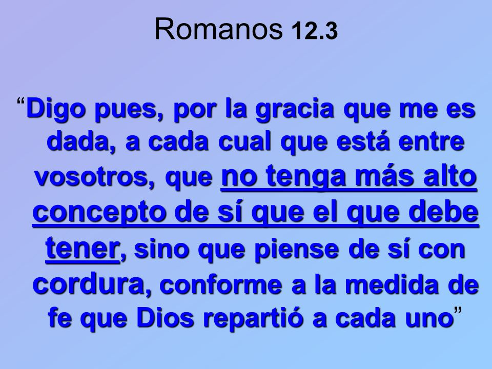 Romanos 12.3
