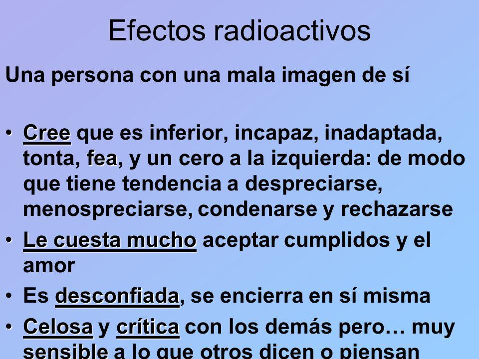 Efectos radioactivos Una persona con una mala imagen de sí