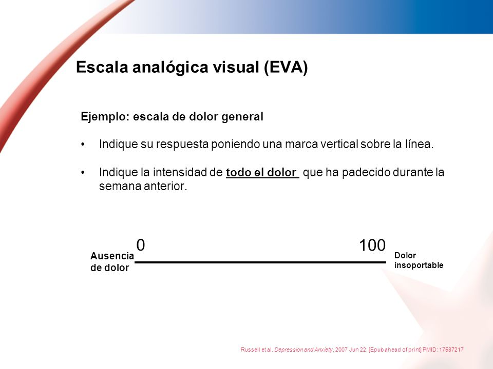 Escala analógica visual (EVA)
