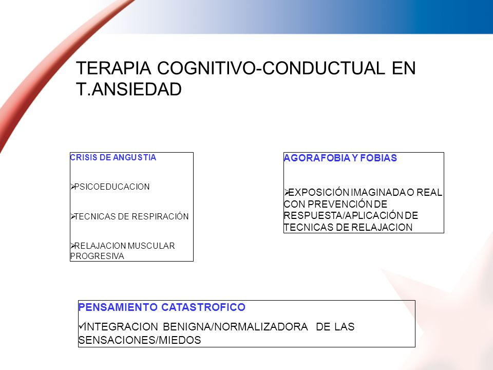 TERAPIA COGNITIVO-CONDUCTUAL EN T.ANSIEDAD