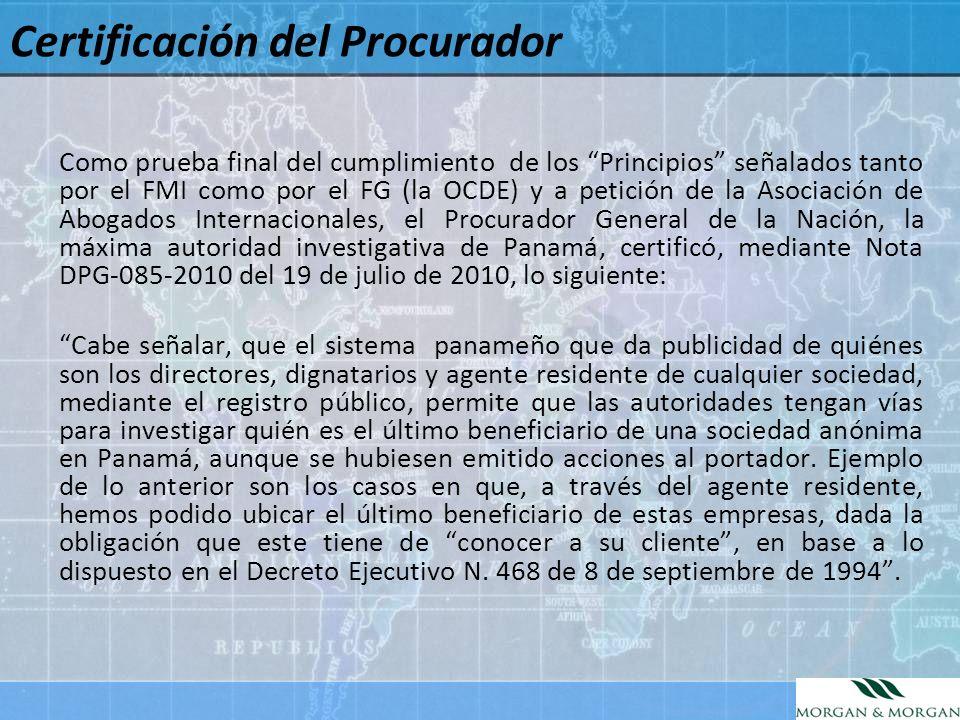 Certificación del Procurador