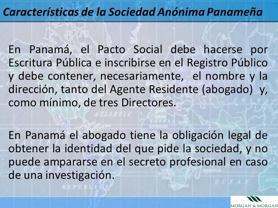 Características de la Sociedad Anónima Panameña