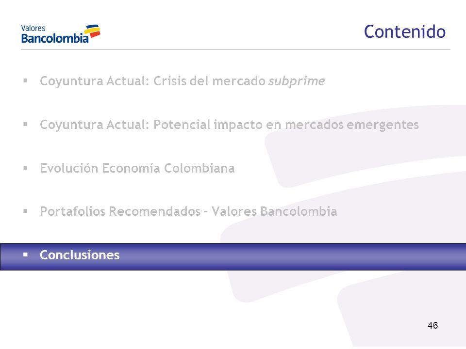 Contenido Coyuntura Actual: Crisis del mercado subprime