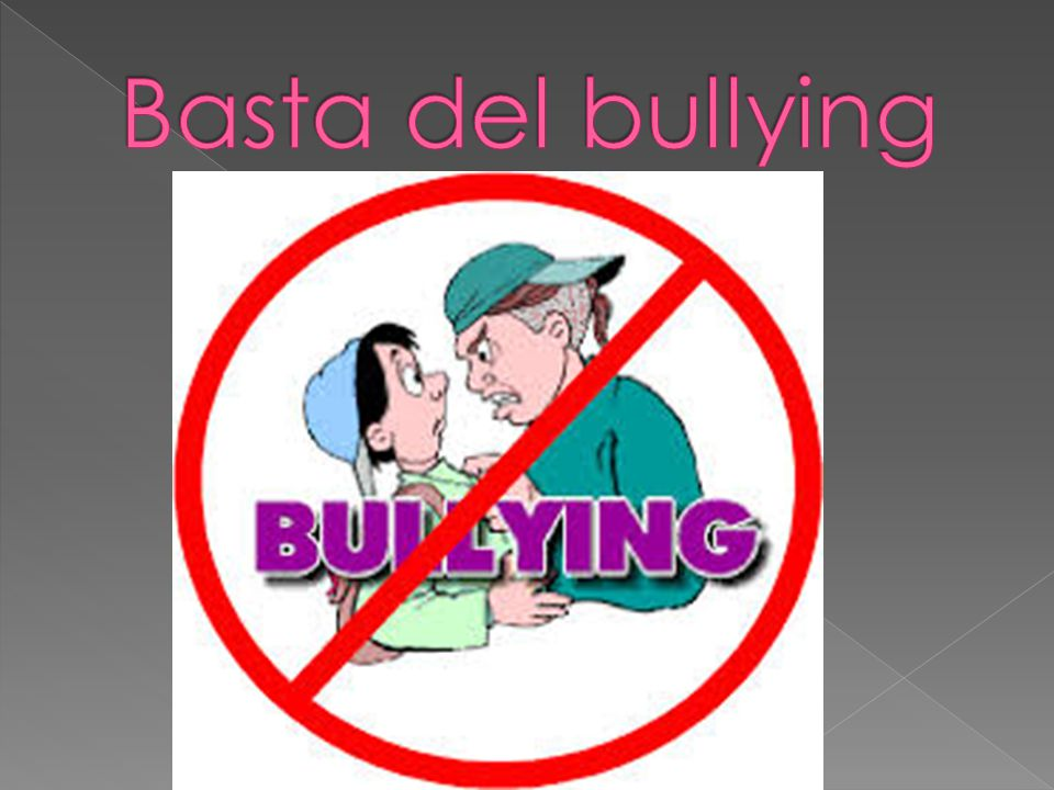 Basta del bullying