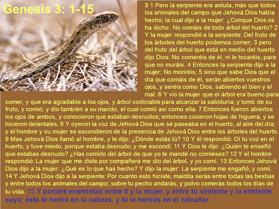 3 1 Pero la serpiente era astuta, más que todos