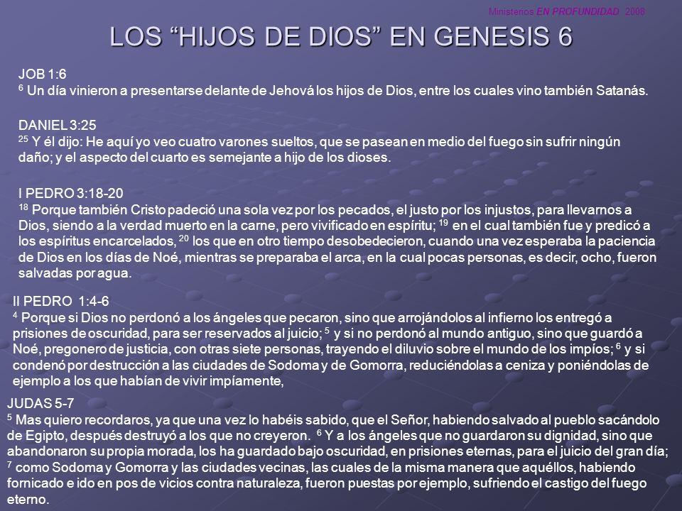 LOS HIJOS DE DIOS EN GENESIS 6