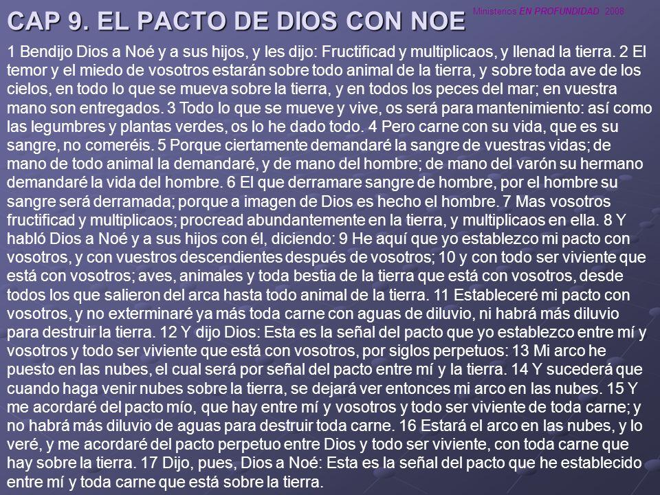 CAP 9. EL PACTO DE DIOS CON NOE