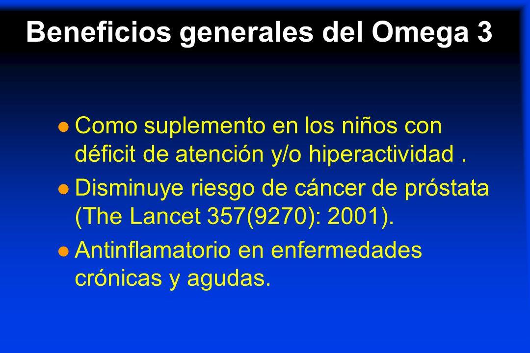 Beneficios generales del Omega 3