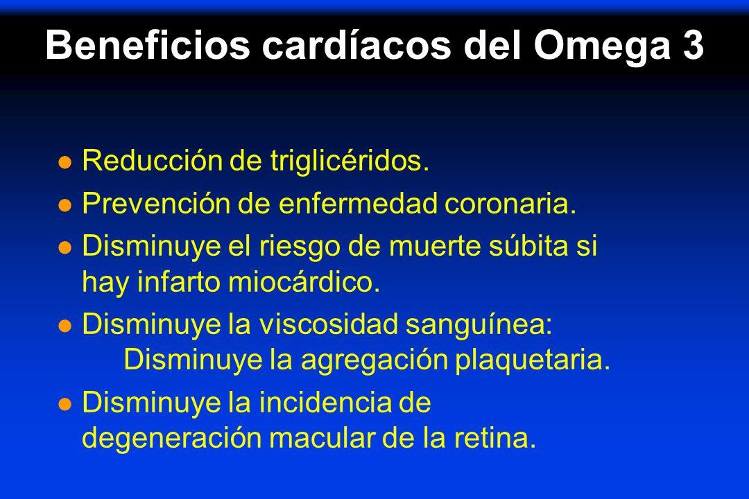 Beneficios cardíacos del Omega 3