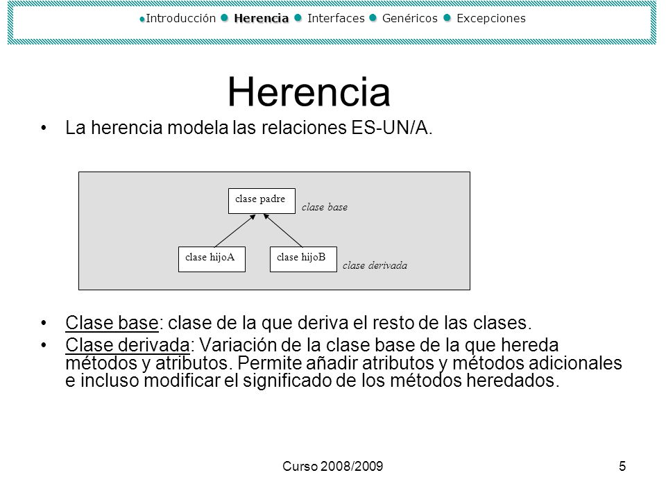 ●Introducción ● Herencia ● Interfaces ● Genéricos ● Excepciones